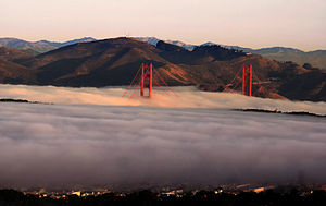 Climate of California - Golden Gate Bridge in fog