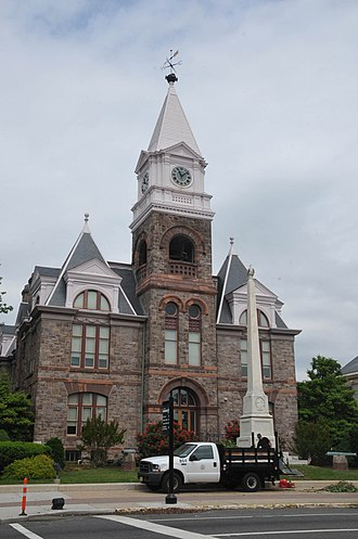 Gloucester County, New Jersey - The old Gloucester County Courthouse in Woodbury