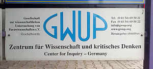Registered association (Germany) - Image: GWUP 01
