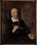 Gabriel Metsu - Portrait of a Woman Artist at her Easel.jpg