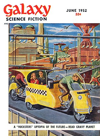 Cyril M. Kornbluth - A year later, the first installment of Gravy Planet (The Space Merchants), by Kornbluth and Frederik Pohl, was also cover-featured on Galaxy