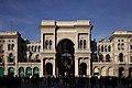 Galleria Vittorio Emanuele II, Milano, veduta dal sagrato del Duomo.jpg