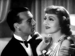 Screen capture of Gary Cooper and Claudette Colbert