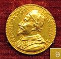 Gaspare morone, medaglia di clemente IX, 1668, oro.JPG