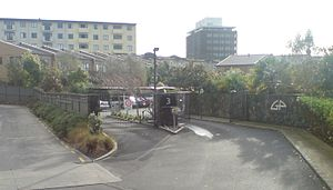 Newton, New Zealand - Townhouses (such as this gated community) and apartment blocks have replaced a big part of the older fabric of the eastern part of the suburb.