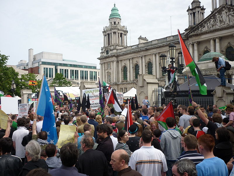 File:Gaza flotilla clash demonstration in  Belfast 1.jpg