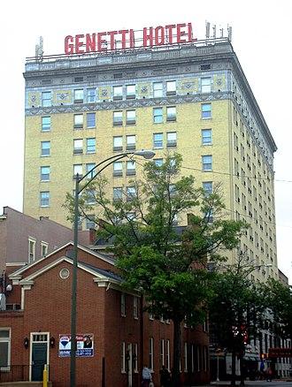 Genetti Hotel - Image: Genetti Hotel Williamsport from south