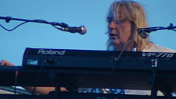 Geoff Downes performing at the Lowistown Art Center.JPG