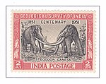 Geological Survey of India Centenary 1951 stamp of India.jpg