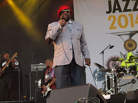 George Clinton and Parliament Funkadelic performing at Pori Jazz 2014 in Finland. George Clinton at Pori Jazz 2014.jpg