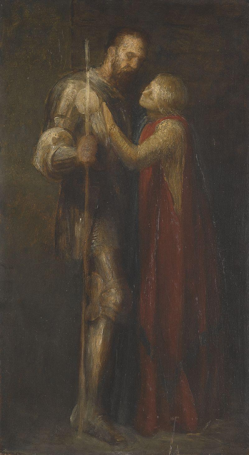 Джордж Фредерик Уоттс - Рыцарь и рыцарь Maiden.jpg