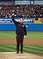 George W. Bush about to throw out 1st pitch at Game 3 of 2001 World Series.jpg