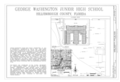 George Washington Junior High School, 707 Columbus Drive, Tampa, Hillsborough County, FL HABS FL-445 (sheet 1 of 5).png