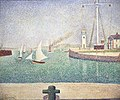 Georges Seurat - Entrance of The Port of Honfleur (Entrée du port d'Honfleur) - BF942 - Barnes Foundation.jpg