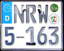 Germany NRW licenseplate.jpg