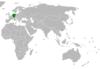 Lage von Deutschland und Nauru