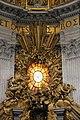 Gialorenzo bernini, cattedra di san pietro, 1656-65, 02.jpg