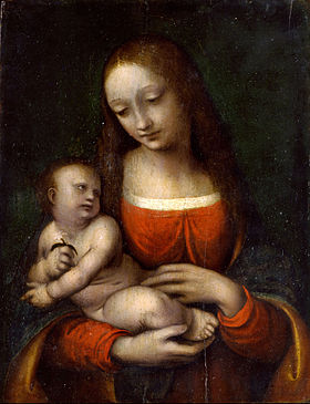 Gian Pietro Rizzi called Giampietrino - The Virgin and Child Icosidodecahedron - Google Art Project.jpg