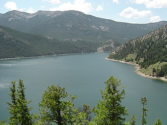 Gibson Reservoir - View of the reservoir