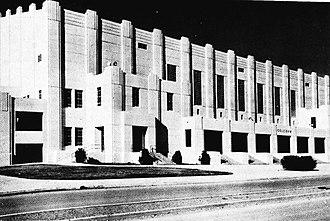 Gill Coliseum - Image: Gill Coliseum exterior 1956