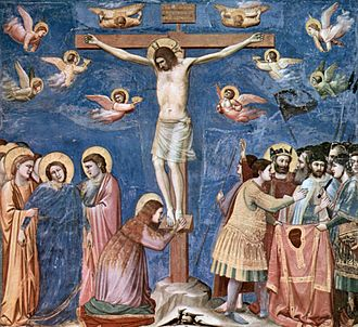 True Cross - Christ crucified, painted by Giotto, circa 1310