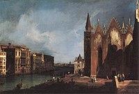 Giovanni Antonio Canal, il Canaletto - The Grand Canal near Santa Maria della Carità - WGA03863.jpg