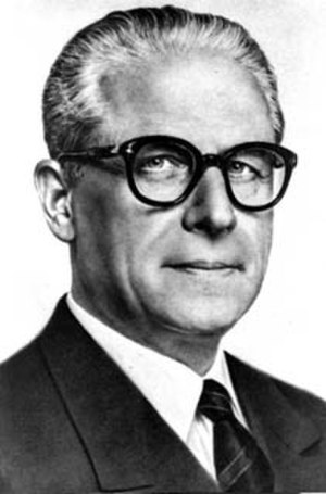 Giovanni Gronchi - Giovanno Gronchi official photo (aged 68), 1955