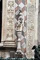 Giovanni antonio amadeo, facciata della cappella colleoni, 1472-75, portale centrale, annunciazione 01.JPG