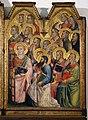 Giovanni del Biondo, incoronazone della vergine, 1374 ca. 05 santi.jpg