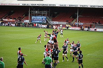 Firhill Stadium - Glasgow Warriors playing Biarritz at Firhill on 10 October 2009.