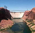 Glen Canyon Dam from Colorado River.jpg