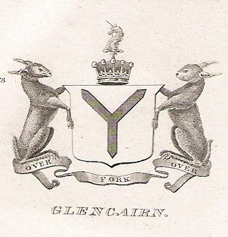 Earl of Glencairn - Arms of the Earls of Glencairn as recorded in Brown's Peerage, 1834