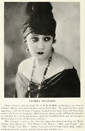 Actress Gloria Swanson from Who's Who on the S...