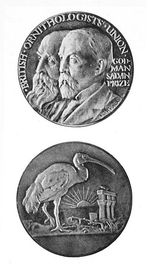 Frederick DuCane Godman - The Godman-Salvin medal was instituted in 1919, the medal was designed by Allan G. Wyon
