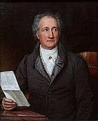 Johann Wolfgang von Goethe, maior escritor alemão, em 1828, retratado por Joseph Karl Stieler.