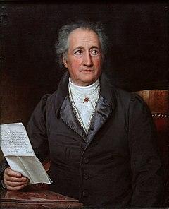Johann Wolfgang von Goethe ved 70 års alder.   Af Joseph Karl Stieler.