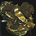 Gold-limonite, Buckhorn Mine, Crystal Hill Mining District, southern Colorado (14550539948).jpg