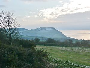 Golden Cap - Golden Cap seen from Stonebarrow Hill in winter