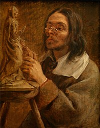 Gonzales Coques - Sight (possibly a portrait of Artus Quellinus).jpg