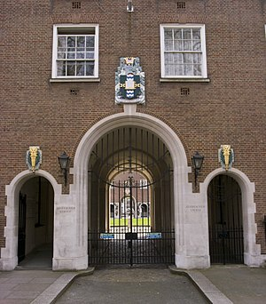 Goodenough College - Entrance and coat of arms