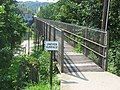 Goose Creek Foot Bridge, eastern end.jpg