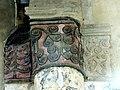 Gournay-en-Bray (76), collégiale St-Hildevert, collatéral sud du chœur, chapiteau du 2e doubleau, côté sud.jpg