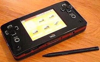 GP2X Wiz - A GP2X Wiz with the main menu open.