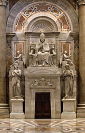 The tomb of Pius VII (Source: Wikimedia)