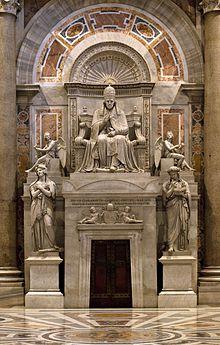 Das Grab Pius' VII. von Bertel Thorvaldsen im Petersdom (Quelle: Wikimedia)