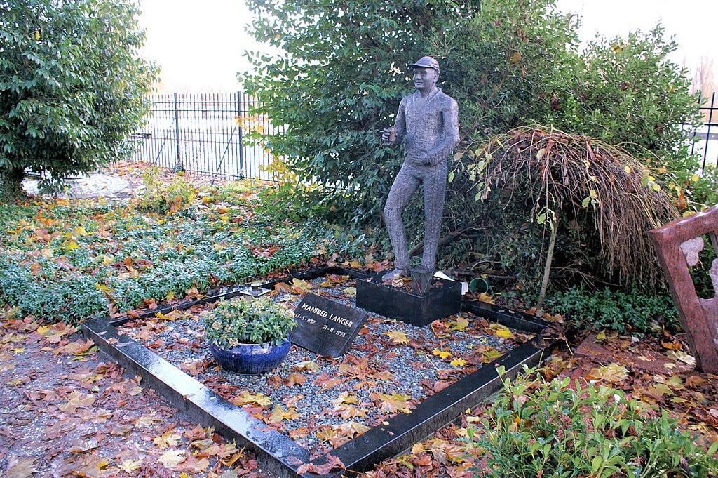 Tombe de Manfred Langer au cimetière Zorgvlied, Amsterdam