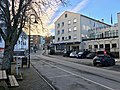 Grand Hotell in Osen street in central Leirvik town on Stord Island, Norway 2018-03-10.jpg