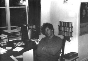 Greg Day (playwright) - Day in his study in the 1980s