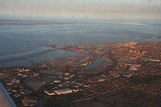 Grimsby Port in Lincolnshire, England