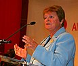 Brundtland addressing the Congress of the Norwegian Labour Party, 2007.